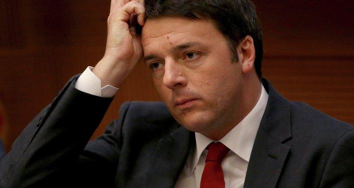 Il Primo Ministro italiano Matteo Renzi