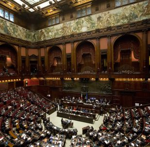 L'aula del parlamento a Roma