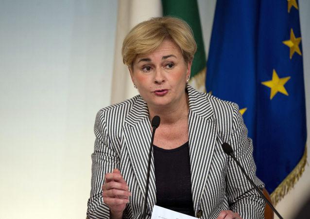 Federica Guidi (foto d'archivio)