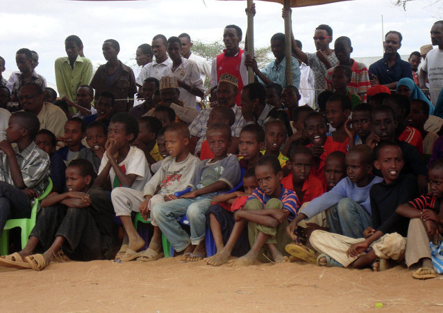 Somali refugees at the Dadaab refugee camp in Northern Kenya