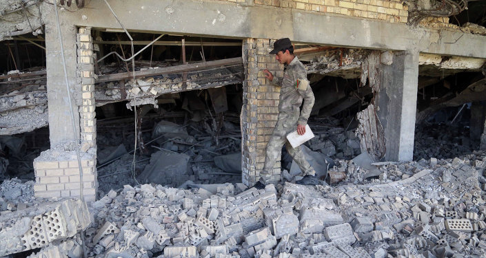 La tomba distrutta di Saddam Hussein a Tikrit