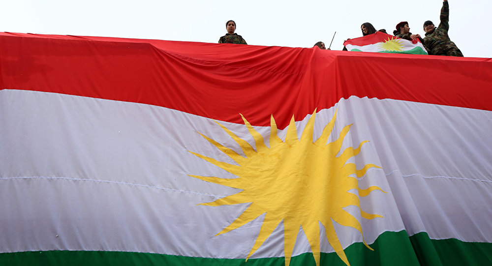 La bandiera di Kurdistan.