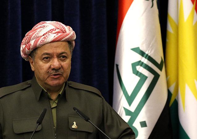 Il leader di curdi iracheni Massud Barzani