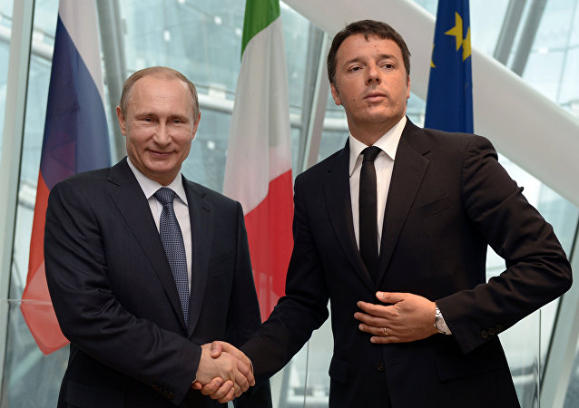 Vladimir Putin e Matteo Renzi