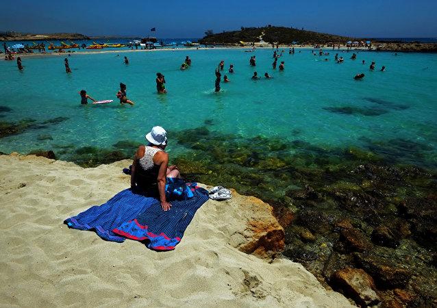 Una spiaggia di Ayia Napa