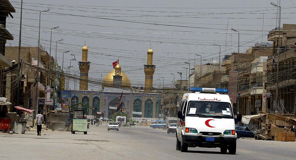 Un'ambulanza vicino a Baghdad