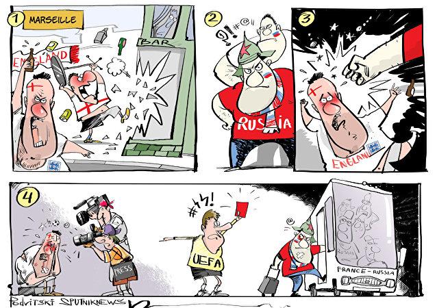 Cartellino rosso per i tifosi russi
