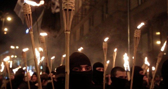 I nazionalisti ucraini  a Kiev