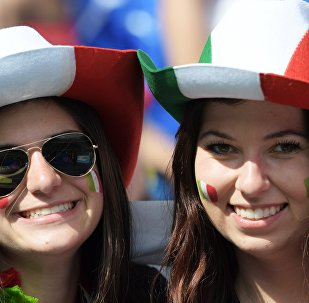 Tifose italiane in tribuna