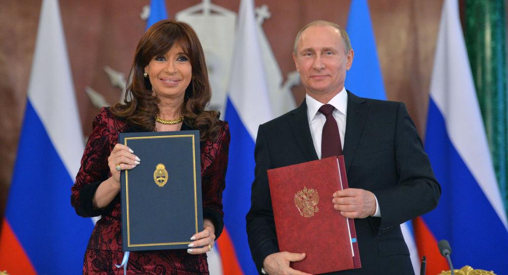 Vladimir Putin e Cristina Kirchner