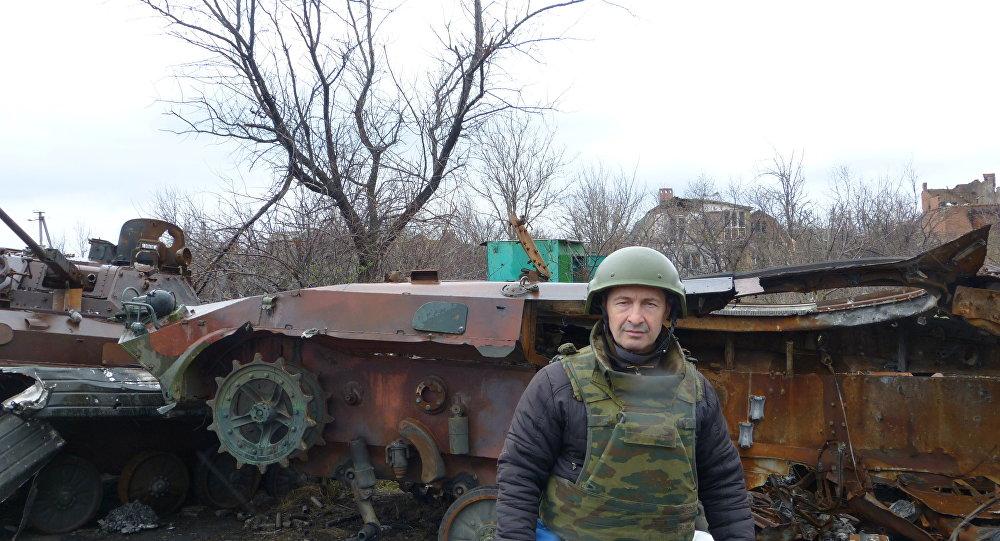 Eliseo Bertolasi a Zabunki (regione di Donetsk)