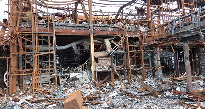 Aeroporto Donetsk, guerra