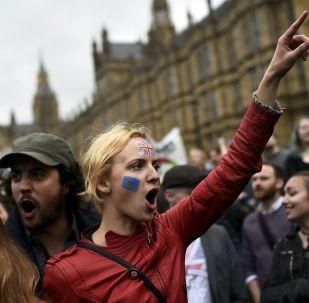 Una protesta a Londra con Brexit