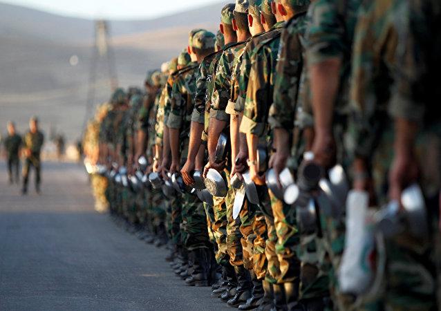 Esercito siriano a Damasco