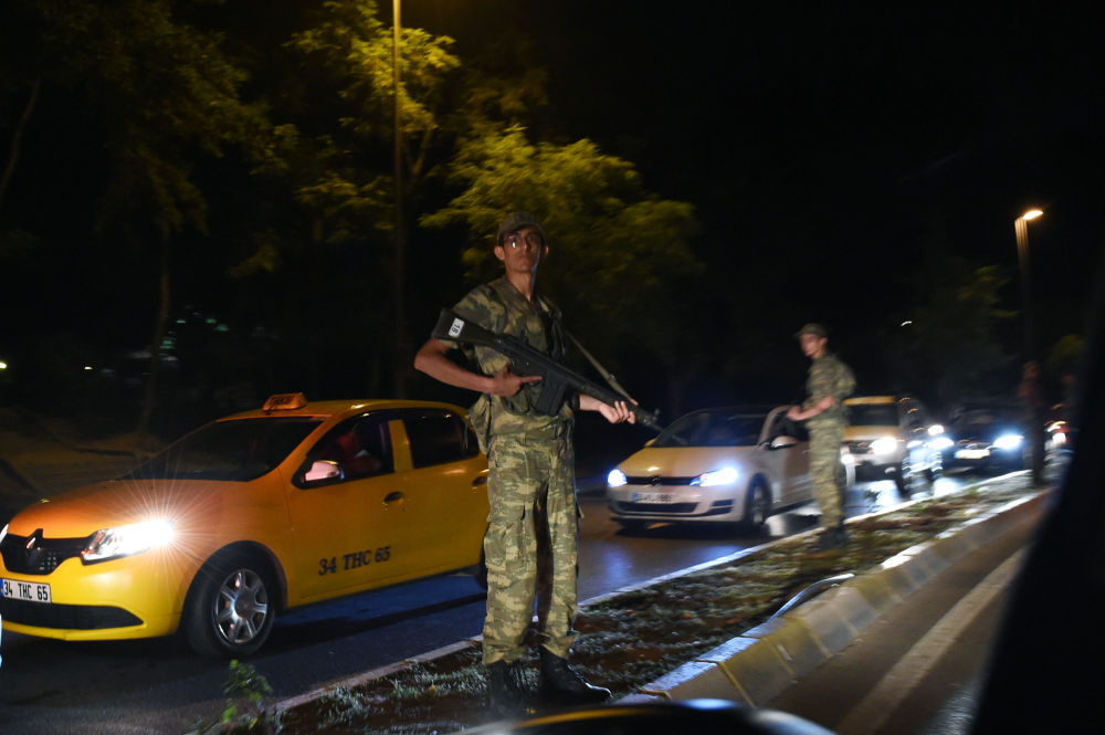La notte del colpo di stato in Turchia