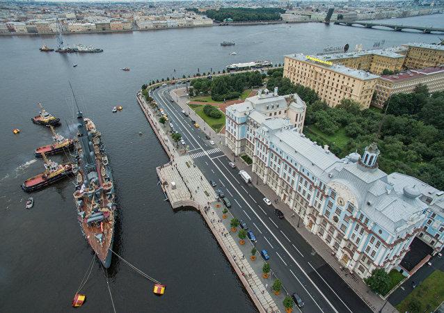 L'Aurora sul fiume Neva, San Pietroburgo