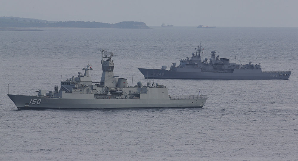 Turkish navy ships. File photo