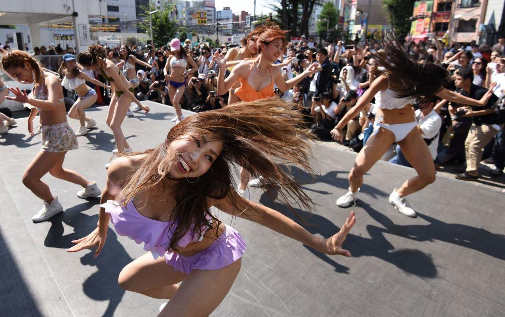 Un flash mob a Tokyo.