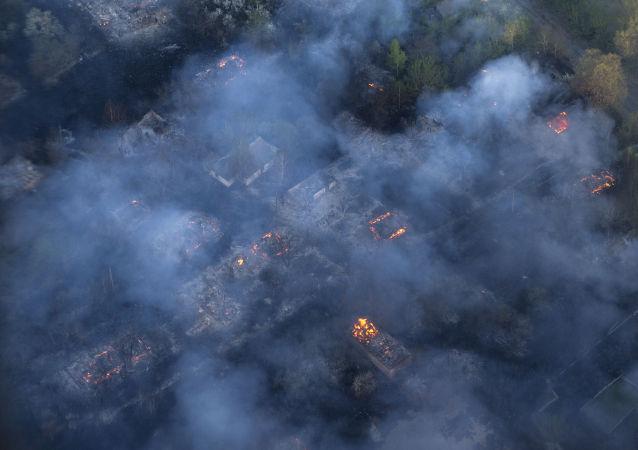 Incendio boschivo (foto d'archivio)