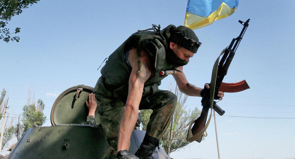 Paramilitare ucraino ad Odessa