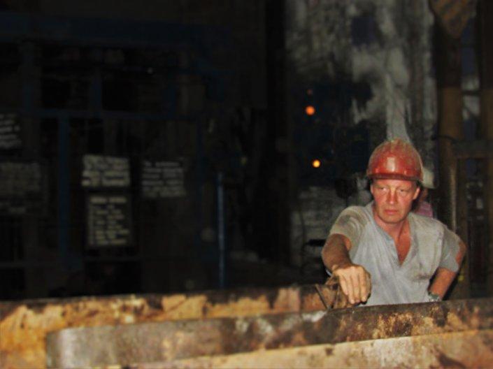 Un minatore del Donbass