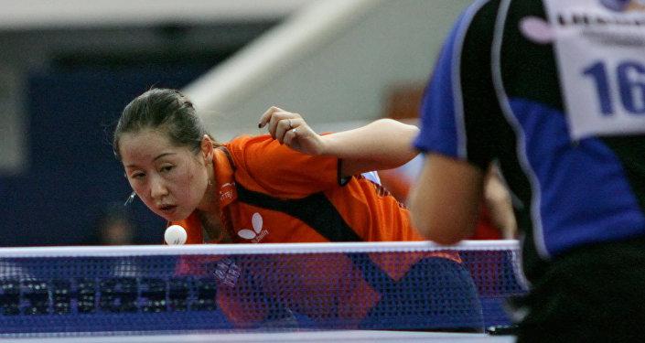 L'atleta olandese del ping pong Li Chao