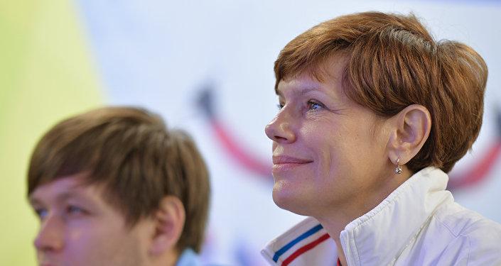 Elena Belkina, commissario tecnico della nazionale russa di scherma paralimpica