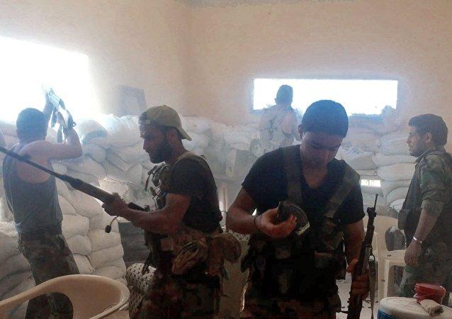 Forze governative siriane ad Aleppo