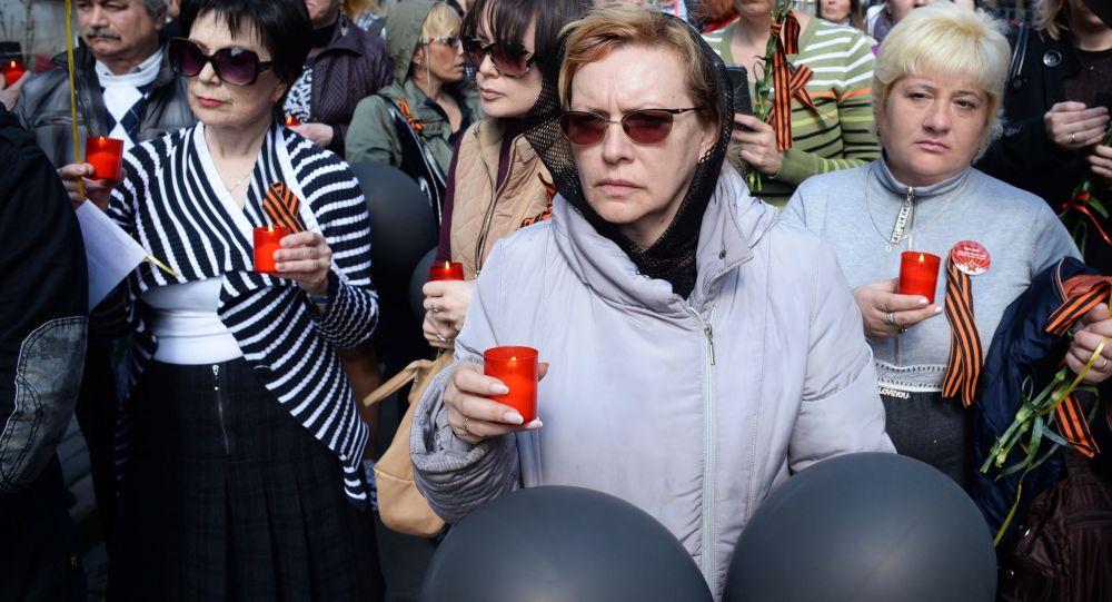 Manifestazione in memoria delle vittime di Odessa del 2 maggio 2014.