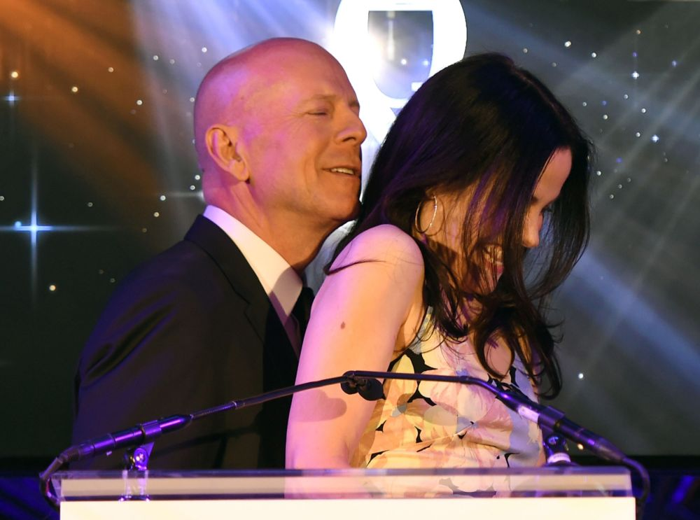 Bruce Willis e Mary-Louise Parker.