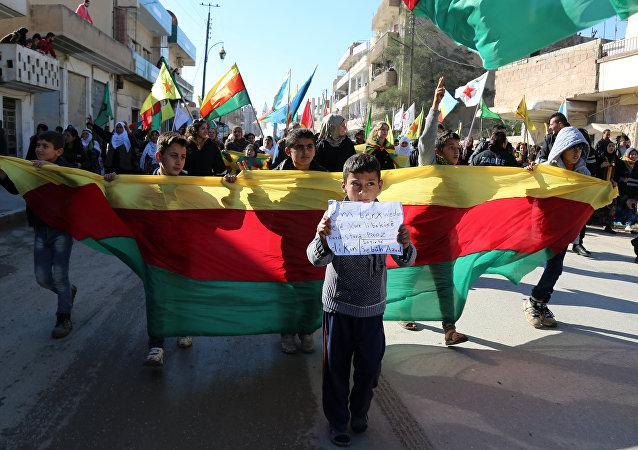 Una dimostrazione curda