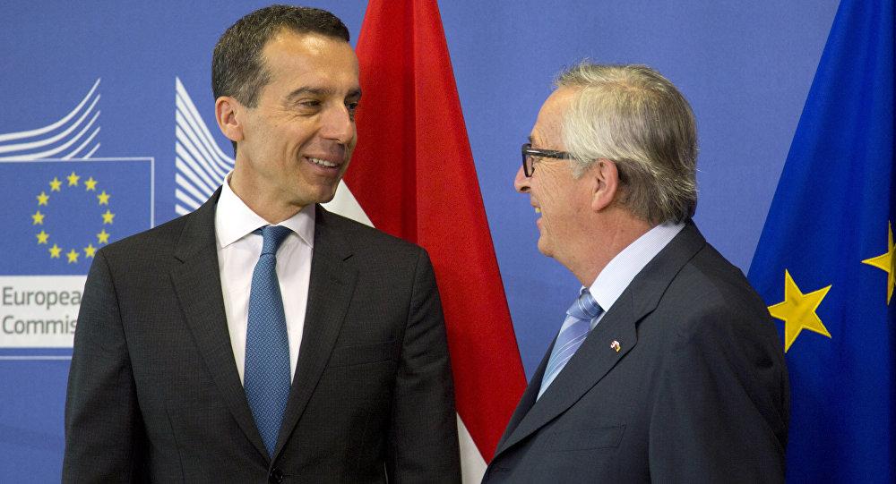 Christian Kern e Jean-Claude Juncker