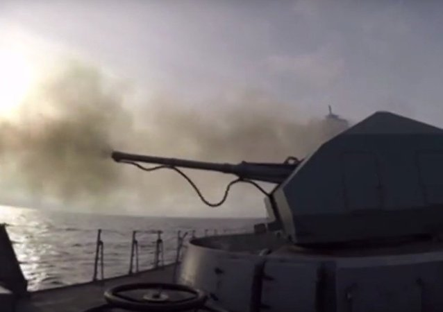 Esercitazioni della fregata Admiral Grigorevich