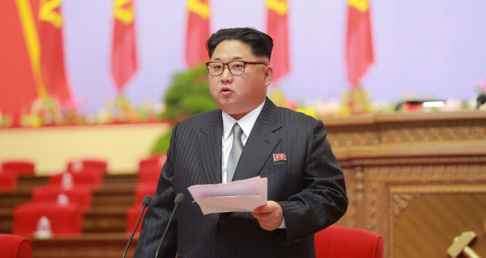 Leader della Corea del Nord Kim Jong-un al congresso del Partito dei Lavoratori di Corea a Pyongyang