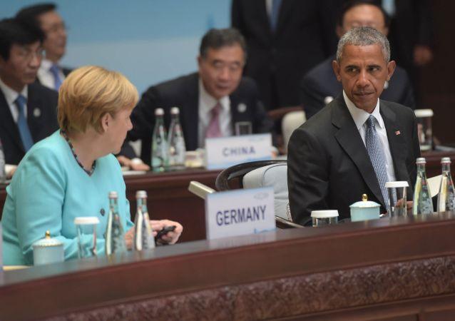 Angela Merkel e Barack Obama al vertice G20