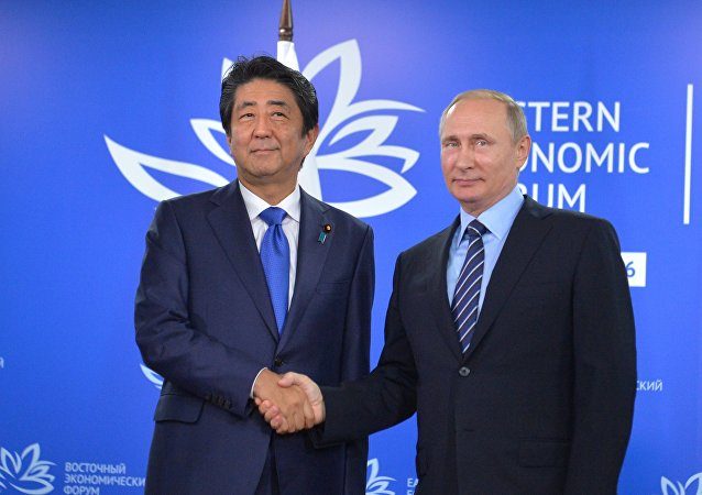 Shinzo Abe e Vladimir Putin