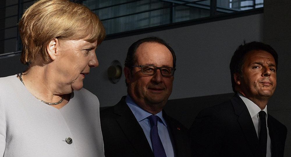 Angela Merkel, Francois Hollande e Matteo Renzi