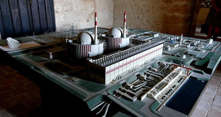Modello di una centrale nucleare