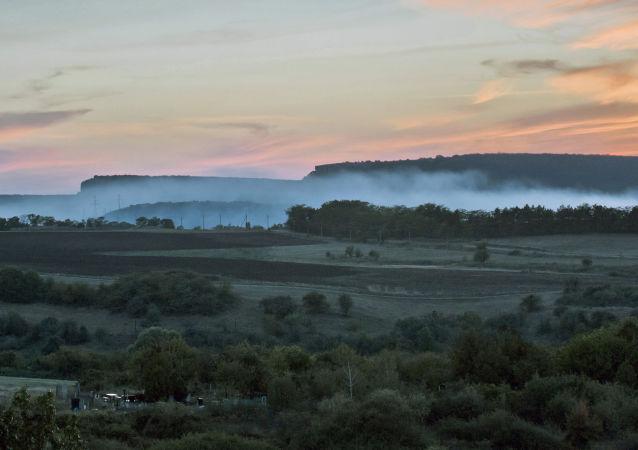 Paesaggio in Crimea.
