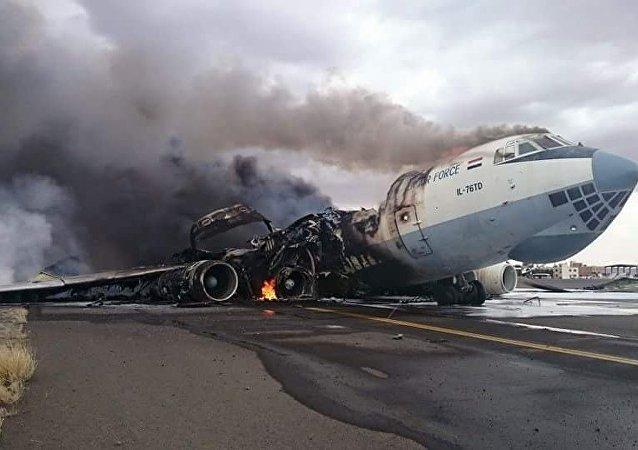 L'aeroporto di Sanaa nello Yemen