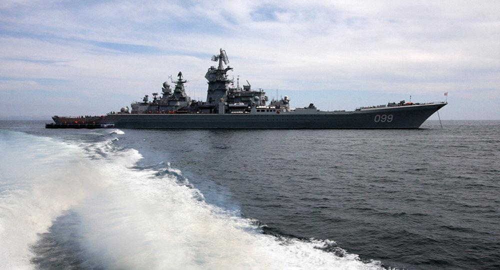Nave militare russa nell'Artico