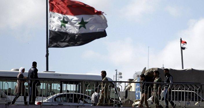 Bandiera della Siria, Damasco