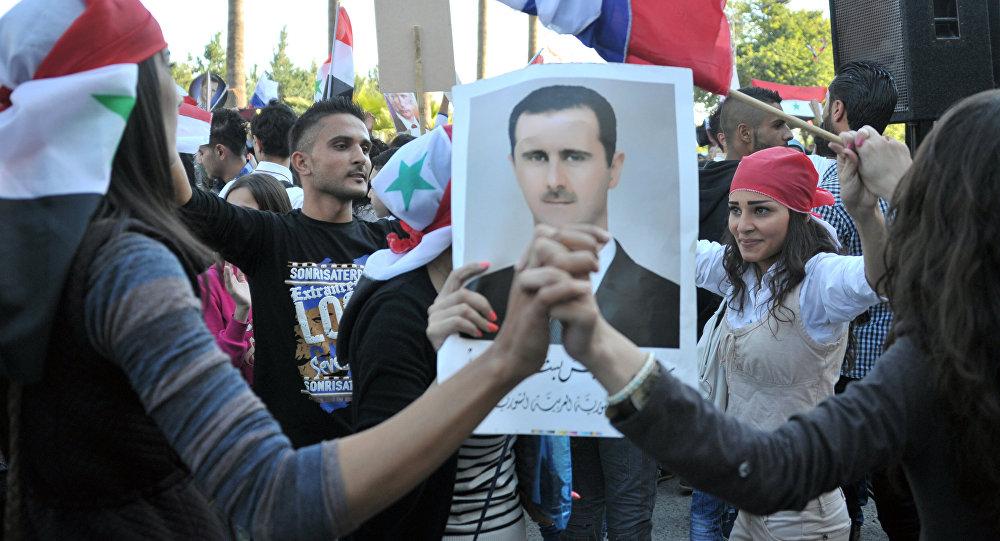Manifestazione a sostegno dei militari russi a Tartus (foto d'archivio)