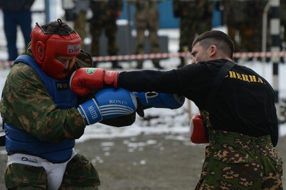 Un soldato della Guardia Nazionale russa
