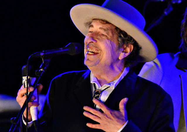 US musician Bob Dylan performs during on day 2 of The Hop Festival in Paddock Wood, Kent on June 30th 2012.