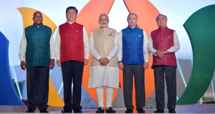 Leader dei Brics nell'ultimo vertice di Goa, in India