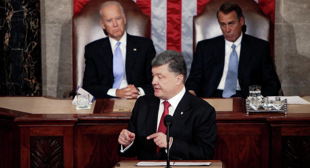 Poroshenko in visita negli Stati Uniti parla al Congresso.