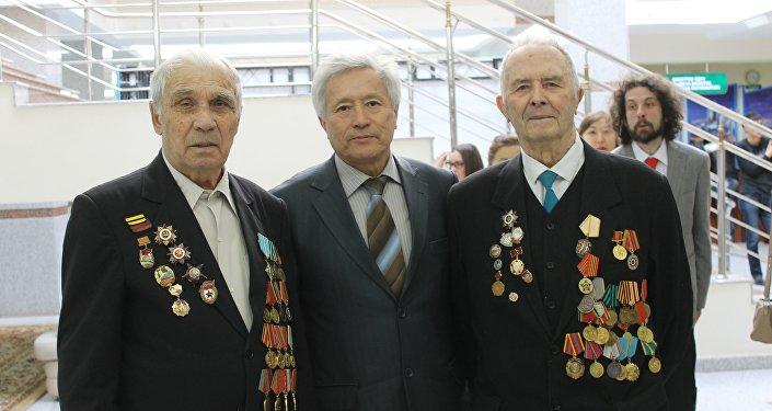 Veterani della seconda guerra mondiale. Evento sui partigiani sovietici in Italia. Astana