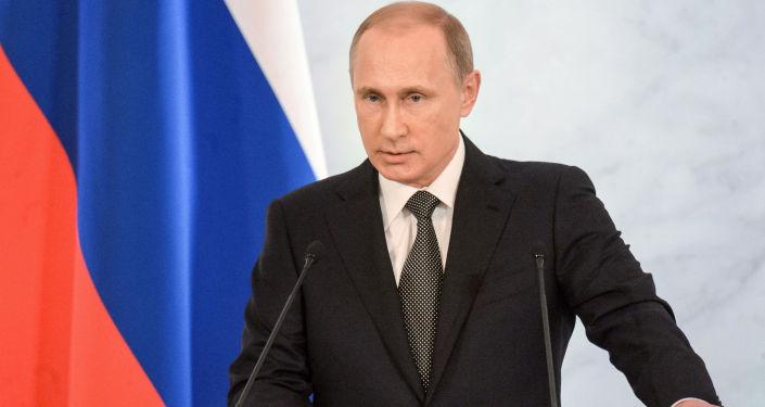 Il presidente Vladimir Putin.