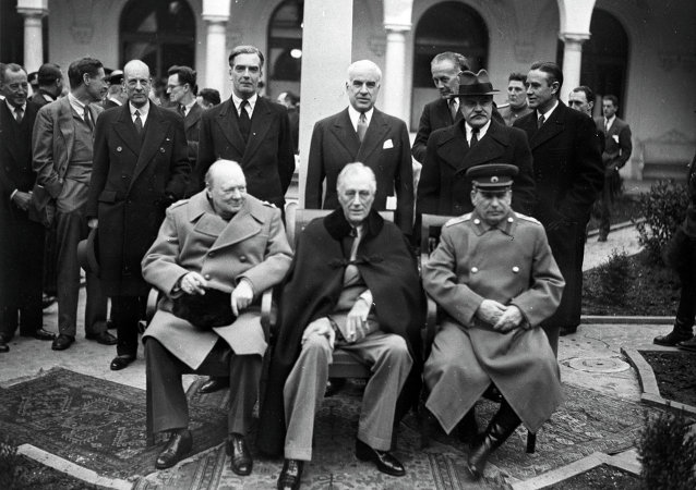 Conferenza dei leader dell'alleanza anti-Hitler a Yalta